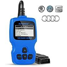 OBD2,AQV Diagnosis Automovil VAG007 Lectores de Códigos Herramientas de Coche Sistemas de Diagnóstico del Coche OBD II EOBD Escáner de Diagnóstico para Volkswagen/Seat/Audi/Skoda