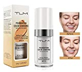 Flawless Colour Changing Foundation Makeup, TLM Concealer Cover Cream, Warm Skin Tone Foundation liquid, Base Nude Face Moisturizing Liquid Cover Concealer for Women and Girls