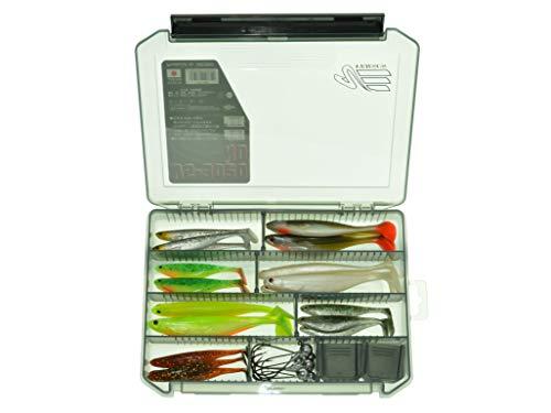 Westin ShadTeez Soft Lures Zander Selection mit Meiho 3020NDB Premium Box und Vanfook Jigs Ready to Fish -