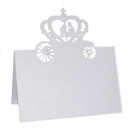ischkarte Hochzeit Party Tisch Dekoration Braut Bräutigam in Kürbis Kutsche (Kürbis-party Dekorationen)