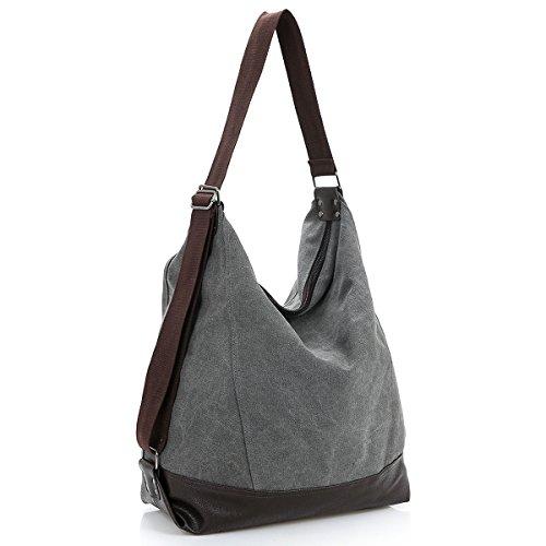 DoubleMay , Sac bandoulière pour femme Noir noir, gris (Gris) - BZY-6005 gris