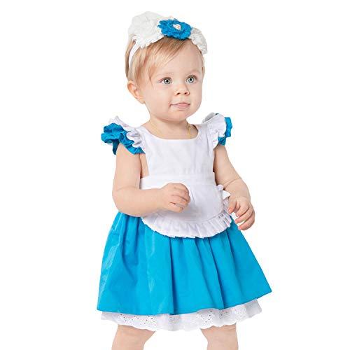 Und Wunderland Kleinkind Kostüm Alice - LOLANTA Alice Kostüm für Baby Wunderland Prinzessin Kostüm für Kleinkinder Halloween Cosplay Kostüm (1-2 Jahre)