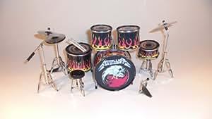 RGM306 Metallica Kits de batterie miniatures Rock Guitar Miniatures James Hetfield Metallica Nothing Else Matters Master Of Puppets Lars Ulrich Robert Trujilo Some Kind Of Monter Unforgiven