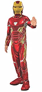 Avengers - Disfraz oficial de Iron Man para niños, Infinity War, talla 8-10 años (Rubies 641051-L)