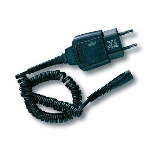 Cavo Alimentatore Smart Plug per Rasoio Elettrico BRAUN Serie 3 Nero