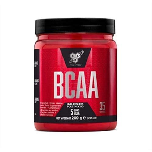 BSN DNA BCAA Verzweigtkettige Aminosäuren (L-Leucin, L-Isoleucin und L-Valin, BCAA Pulver von ON) 35 Portionen, 200g