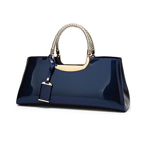 Tisdaini 2017 Damen Handtasche Mode Lackleder glänzend Casual Schulter Messenger Bag Brieftasche Damen Atmosphäre wild