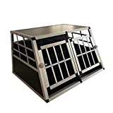 Generic Og Crate XXL Aluminium E Dog Crate Transportbox Nsport Auto Auto Käfig Tür Pet Carrier Travel Doppel-Hundebox Reisekiste