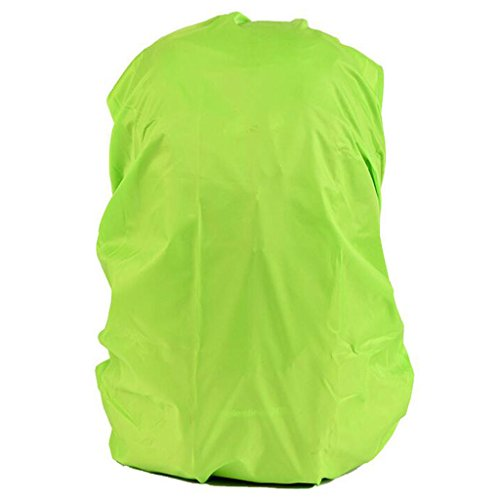 Imagen de funda cubierta de  protector de lluvia impermeable recorrido senderismo  polvo 30l 40l para acampada  verde