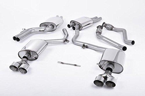 Milltek SSXAU410 2011 S5 3.0 TFSI B8.5 Coupé et Cabriolet GT100 GT100 Cat-back Résonated Quad poli