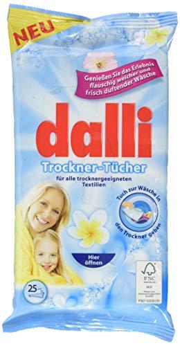 Las hojas de secado de la secadora Dalli disfrutan de la experiencia del lino perfumado suave y fresco mullido (1x25)