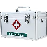 Carevas Abschließbare Große Erste Hilfe Medizin Aufbewahrungsbox Fall mit Griff Aluminium Familie Notfall Kit... preisvergleich bei billige-tabletten.eu