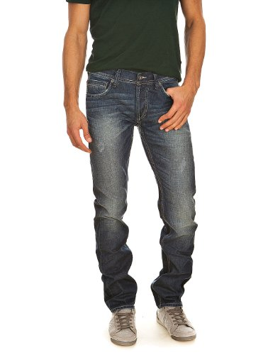 Jeans Kelso Strong Used Wash Cross Hatch Denim Mustang Blau