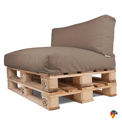 arketicom soft set cuscini pallet bancali morbidi da esterno per arredo mobili divani da giardino salotto divanetto pallet o bancale cuscini arredo con palline di polistirolo tessuto acrilico cacao