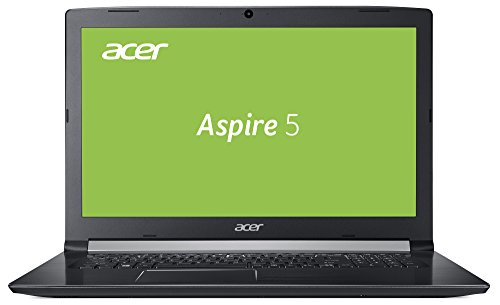 Acer Aspire 5 (A517-51-56D2) 43,9 cm (17,3 Zoll Full-HD matt) Multimedia Laptop (Intel Core i5-7200U, 8GB RAM, 256GB SSD, Intel HD, Win 10) schwarz