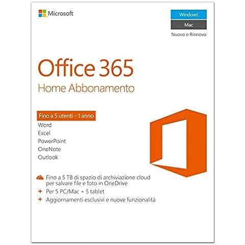 Microsoft Office 365 Home [5 PC / 1 anno] (Versione (Home)