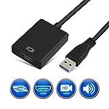 Comter USB 3.0 to HDMI, Carte Graphique HD vidéo Full HD 1080p Adaptateur de câble...