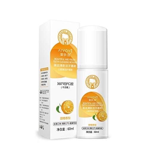 Peanutaoc Orange Herbal Mint Fresh Toothpaste Reduces Gingivitis Toothpaste  Cleans Dental Stains Bad Breath