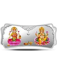 MMTC-PAMP India Pvt. Ltd. Stylized Lakshmi Ganesha 999.9 purity 100 gm Silver Bar