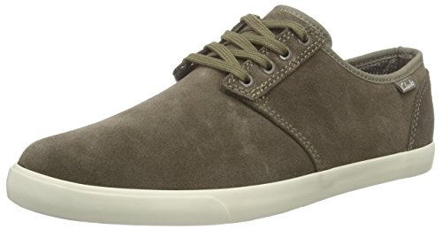 clarks-torbay-lace-mens-low-top-sneakers-green-olive-7-uk-41-eu