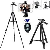 Camera tripod, iPhone tripod, with mobile phone holder and Bluetooth remote control, mobile phone tripod for iPhone, Samsung and camera mini smartphone tripod.