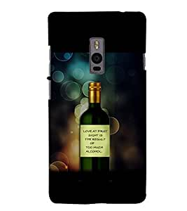 PRINTSWAG BOTTLE Designer Back Cover Case for ONE PLUS TWO