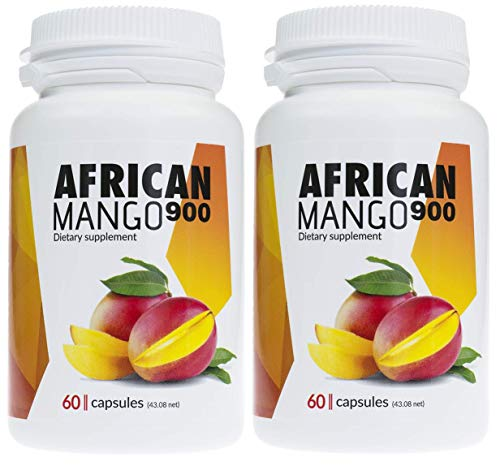 ✅AFRICAN MANGO Premium Schlankheitsmittel, 2er Pack 2x900mg hochdosierter Mangoextrakt, enorme Fettverbrennung, idealer Fatburner, Appetitzügler, erzeugt Sättigungsgefühl, 120 Kapseln -
