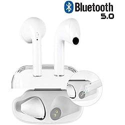 Écouteurs Bluetooth Apple Airpods sans Fil Oreillette Bluetooth Casque Bluetooth,Iphone,Samsung et kit Mains Libres Casque Compatible avec Tous Les appareils Bluetooth iOS et Android