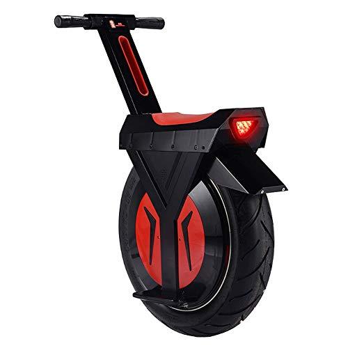 HOPELJ Elektrisches Einrad, 17 Zoll 500 W Einrad Balance Scooter Roller mit Bluetooth-Lautsprecher, 20 km/h, Elektro Scooter,Black,60km