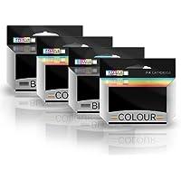 Prestige Cartridge No. 82/No. 83 Quattro Cartucce di Inchiostro Rigenerate con Chip non OEM per Stampanti Lexmark, Multicolore