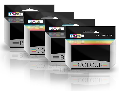 Prestige Cartridge Tintenpatrone 10B und 10C passend zu Kodak Drucker ESP3, ESP5, 4-er Pack, farbig sortiert - Drucker Kodak 10 Tinte