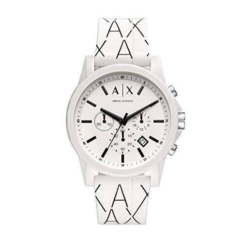 Armani Exchange Herren Chronograph Quarz Uhr mit Silikon Armband AX1340