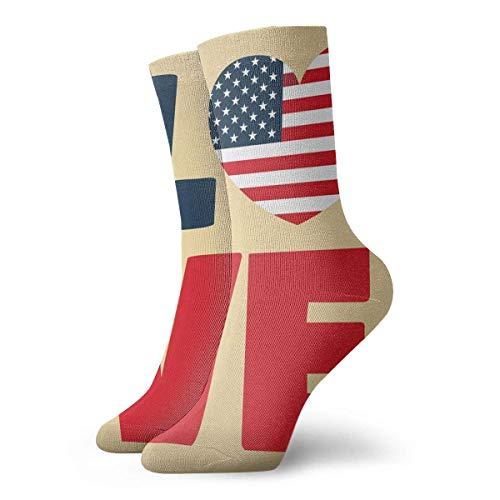 Crazy Sport Socke (ouyjian Novelty Funny Crazy Crew Sock Love USA Amerika Printed Sport Athletic Socken 30cm Long Personalized Gift Socken)