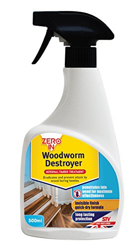 Zero In Woodworm Destroyer Ready to Use Spray - 500ml