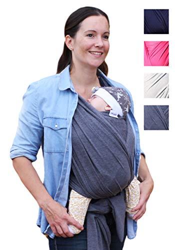 myla elastisches Baby-Tragetuch - Tragetuch fürs 1. Lebensjahr | hoher Tragekomfort | bis max. 12kg | 520cmx54cm | passend für jede Trägergröße | weich & anschmiegsam