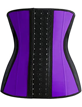 FeelinGirl - Corsé de moldeamiento de cintura para mujer, látex Morado morado