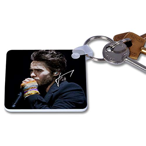 Jared Leto - Thirty Seconds to Mars - 30 Seconds to Mars 1 Novelty Keyring Printed Autographed Key Chain