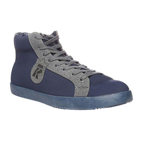 RIFLE Chaussures Homme Baskets, Plates Avec Lacets. mod. 162-M-360-456 Bleu - Gris foncé