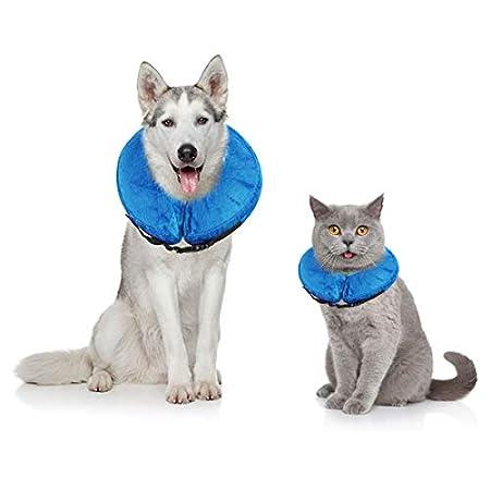 Petyoung Aufblasbares Halsband für Hunde und Katzen, weiches Halsband mit Verstellbarer Schnalle, ideal zur Erholung von…