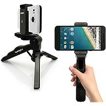 """igadgitz 2 en 1 Poignée Stabilisateur Style Pistolet et Mini Trépied de Table Léger Taille avec Adaptateur de Fixation Smartphone pour Apple iPhone 6 6S 4.7"""" 5 5S 4HD 4S"""
