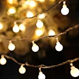 Litake LED String Lights, Warm White Ball Fairy Lights, Waterproof Decorative Starry Lights for Bedroom Patio Parties, Battery Powered
