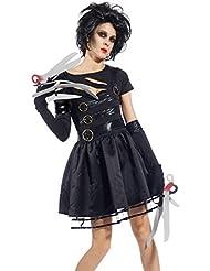 Erwachsene Edward Scissorhands Kostuem Damen Kostuem Johnny Depp mit Scherenhaenden Halloween Karneval Fasching