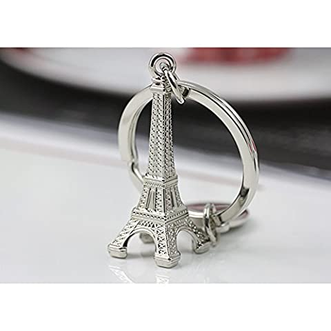 Zsjijia Großes Eiffel Frankreich Paris-Turm-Auto Schlüsselanhänger Modell Schlüsselanhänger Eiffelturm Schlüsselanhänger Mini Schlüsselring