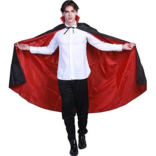 Kostüm Ritter Alle Womens - Hcxbb-b Halloween Kostüm, Vampir Kapuzen Robe Mantel, Unisex Mittelalter Ritter Zauberer Hexe Cosplay (Farbe : Black, Size : One Size)