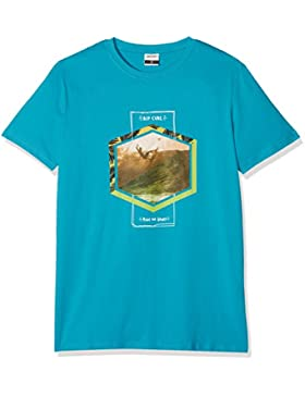 Rip Curl Action Palm SS tee Camiseta, Niños, Barrier Reff, 14