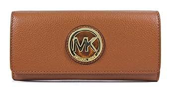 Michael Kors Fulton Luggage Leather Flap Continental Wallet Bag Handbag Purse