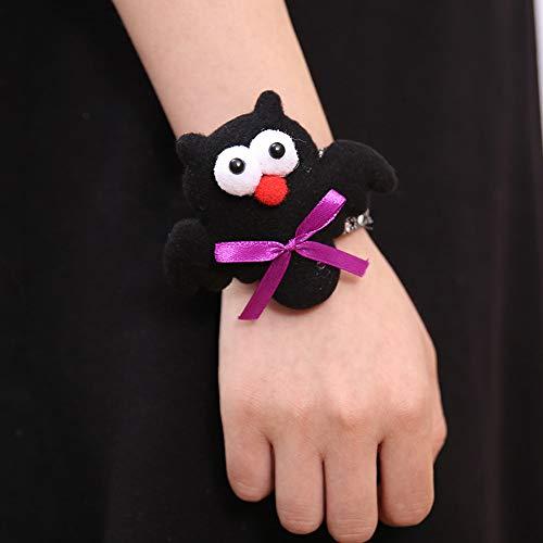 Qiuday Armbänder | Personalisiertes Armband Halloween Glow Slap Armband Party Dekor Pat Kreis Hand Ring Kürbisschläger Feat Herren Armband - Damen Armband - cool
