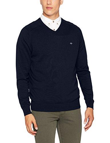 FYNCH-HATTON Herren Pullover V-Neck, Cotton Made in Africa Blau (Navy 625)