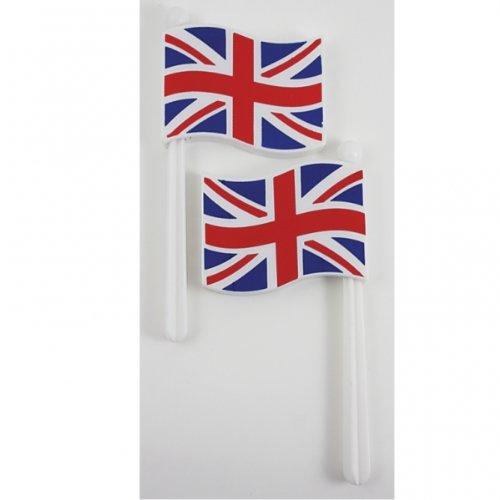 Grande Bretagne Union Jack Flag Hochet bruit créateurs x 2