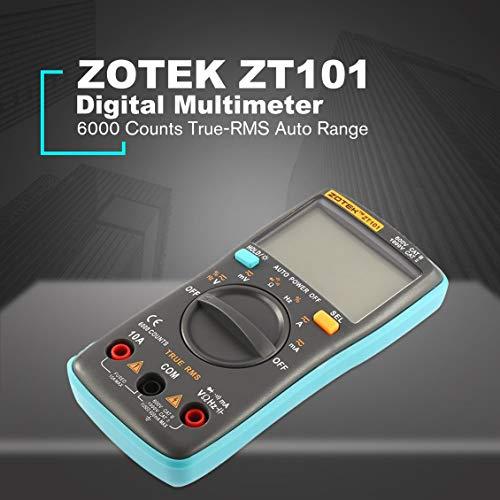 fghdfdhfdgjhh Fit ZOTEK ZT101 Mini Auto Range Digitalmultimeter 6000 Zählt AC/DC-Amperemeter Voltmeter 550 V Überlastschutz LCD-Hintergrundbeleuchtung